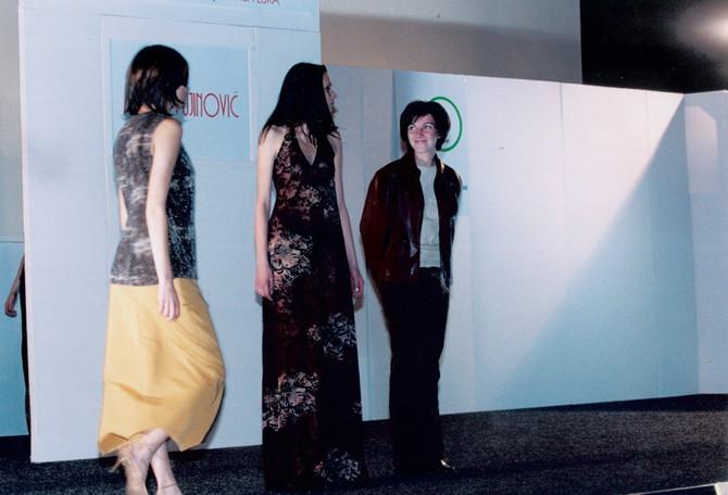 U Centru za kulturu Laktaši dok se bavila modnim dizajnom