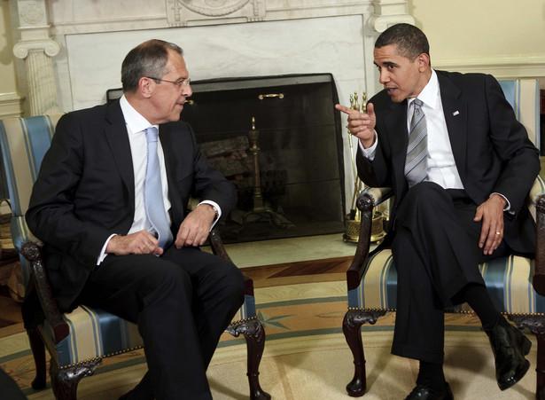 Prezydent USA Barack Obama i minister spraw zagranicznych Rosji Siergiej Ławrow