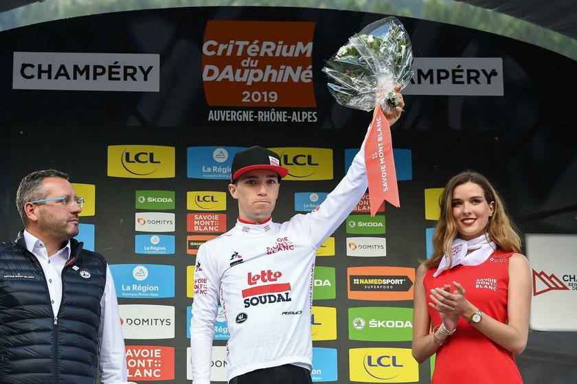 Belgijski kolarz ekipy Lotto-Soudal Bjorg Lambrecht miał wypadek