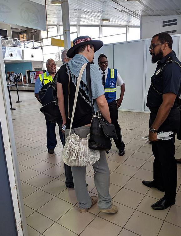 David i Ergen na aerodromu