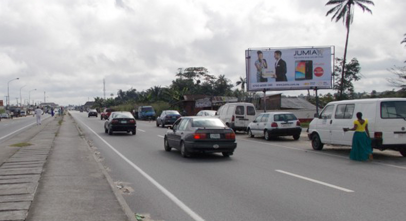 A Jumia signpost in Warri along agbarho Ughelli-Road (newcrycommunications)