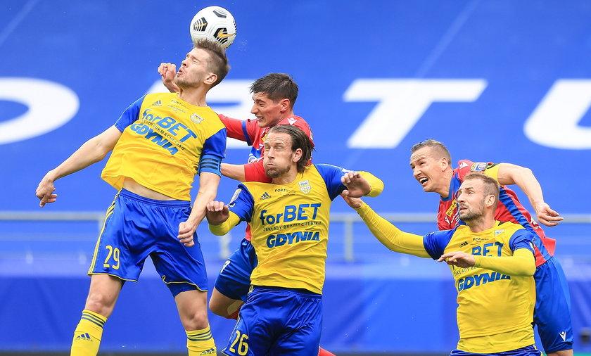 Pilka nozna. Fortuna Puchar Polski. Rakow Czestochowa - Arka Gdynia. 02.05.2021