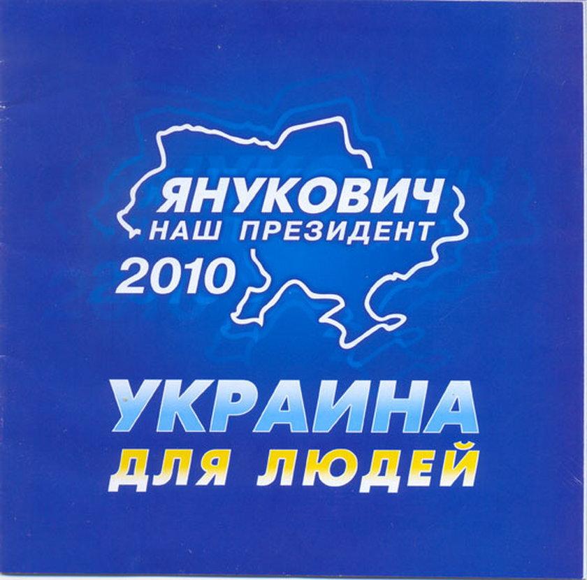 Plakat wyborczy Janukowycza