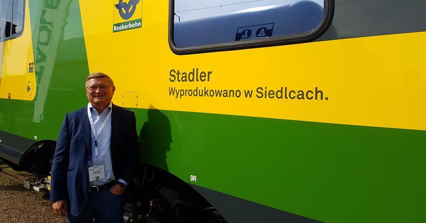 Wojciech Kostrzewa, członek Rady Dyrektorów Stadler Rail AG