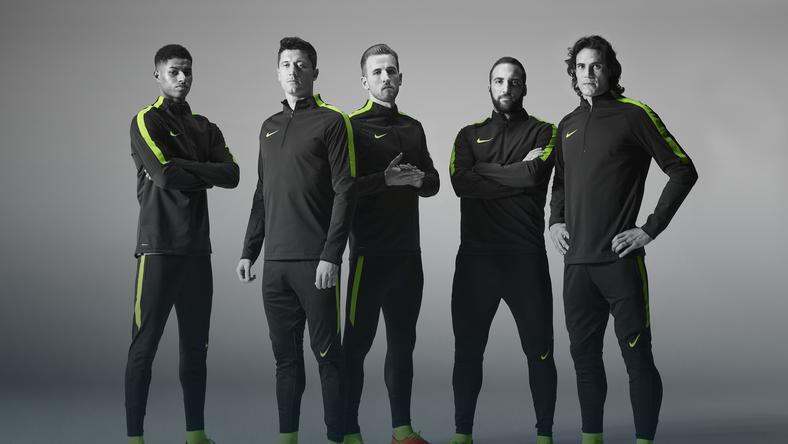 Marcus Rashford, Robert Lewandowski, Harry Kane, Gonzalo Higuain i Edinson Cavani