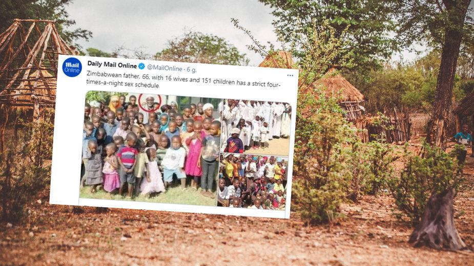 66-letni mężczyzna z Zimbabwe ma 16 żon i 151 dzieci