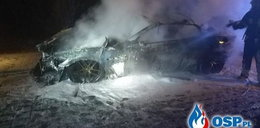Maserati doszczętnie spłonęło. Ponad 100 tys. zł poszło z dymem