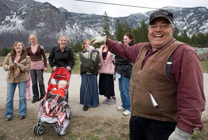 Vinston Blekmor sa delom porodice