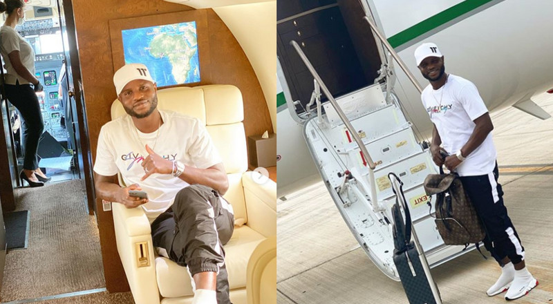 Mubarak Wakaso leaves Ghana in a private jet to join Chinese club