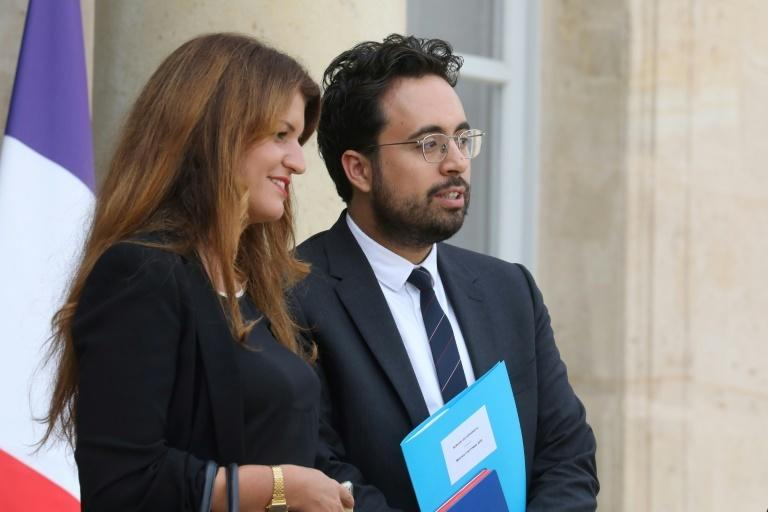 "Online harassment is against the law, French Equality Minister Marlene Schiappa (L) said, while Mounir Mahjoubi (R), the minister for digital affairs, described the League of LOL members as ""losers"""