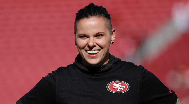 49ers' Katie Sowers is making history by becoming the first female and first openly gay coach at a Super Bowl game