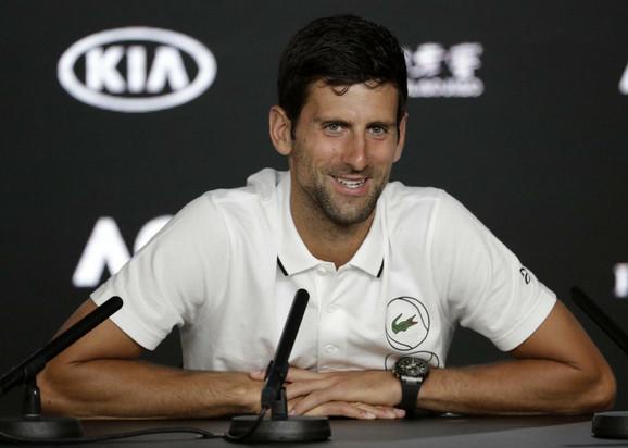 Novak Đoković na konferenciji za štampu u Melburnu