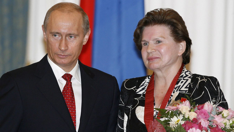 Władimir Putin i Walentina Tierieszkowa