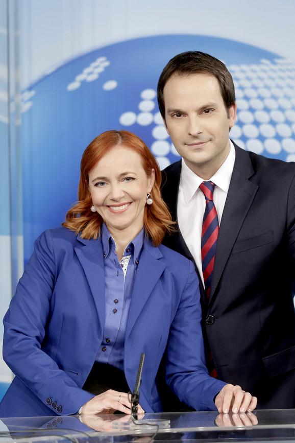 Milica sa kolegom Brankom Veselinovićem