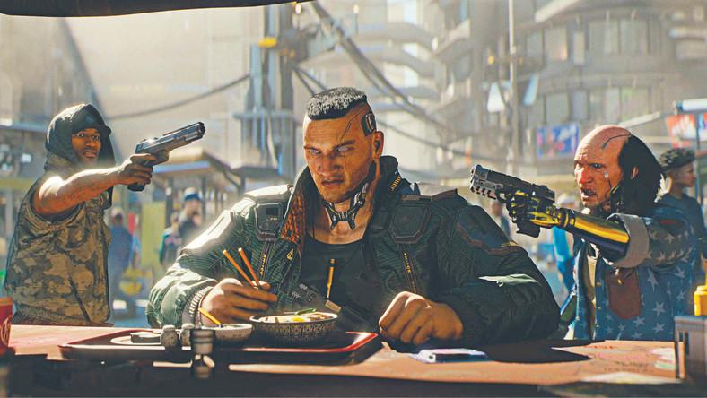 """Kadr z przygotowywanej przez studio CD Projekt RED gry """"Cyberpunk 2077"""""""