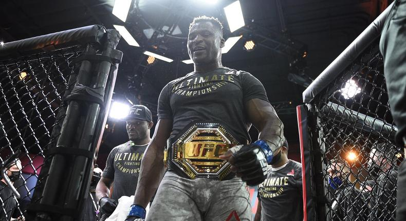 Francis Ngannou is now the UFC heavyweight champion (UFC)