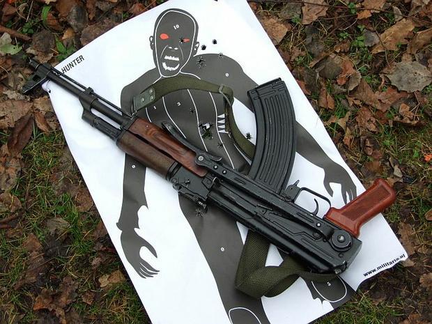 Tarcza zombie + replika AK