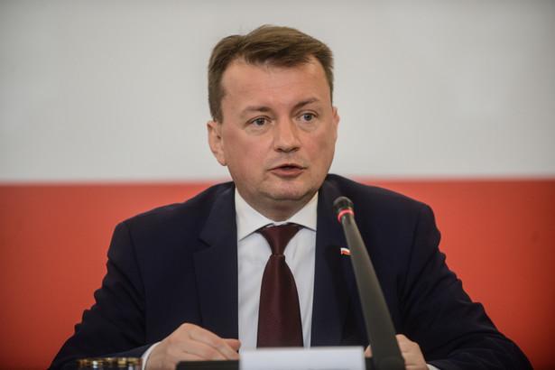 Minister spraw wewnętrznych Mariusz Błaszczak