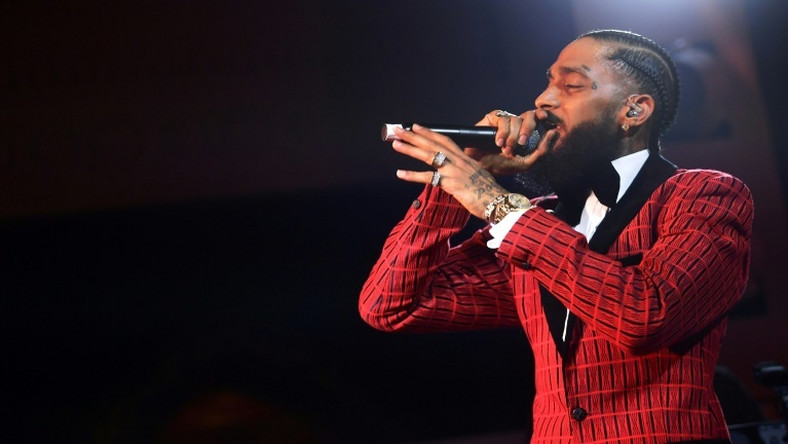 "Rapper Nipsey Hussle, who was long part of the underground rap circuit but struggled to find fame, was nominated for a Grammy for his album ""Victory Lap"""