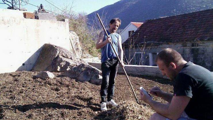 Zloglasni Mile Mesar na imanju s Dževadom Zahirovićem