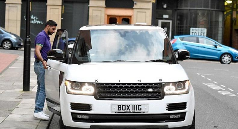 Amir Khan's personalised 'King Khan edition' Range Rover