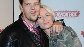 Michał Figurski z żoną na spektaklu w teatrze Capitol