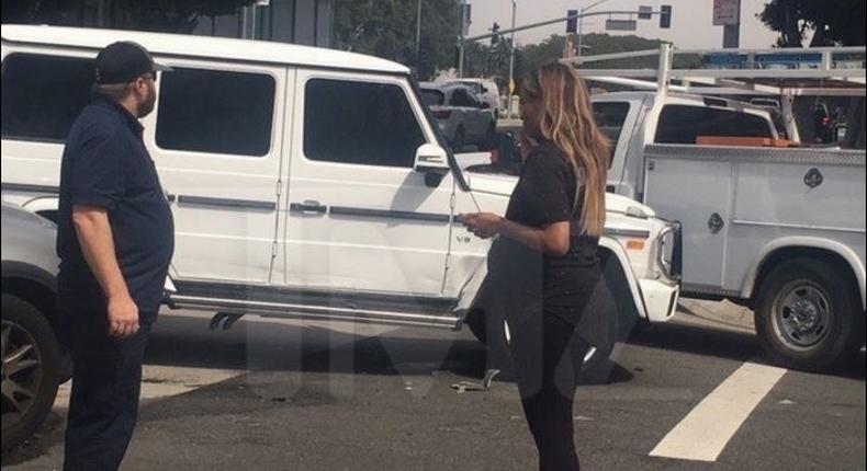 Ciara involved in a car crash