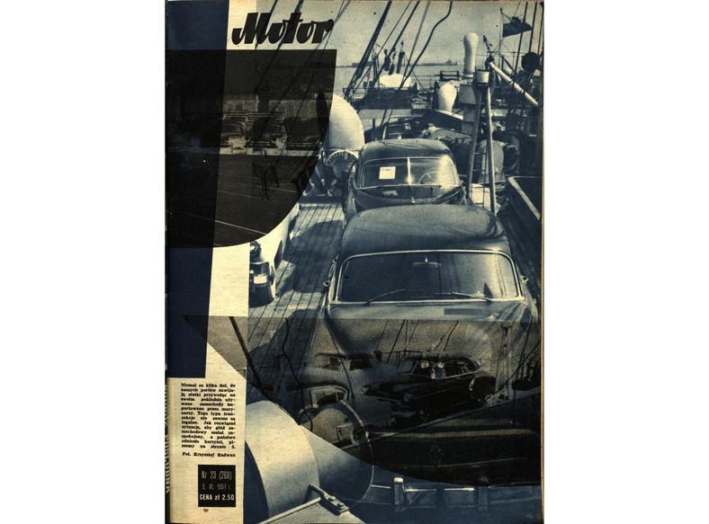 """Tygodnik """"Motor"""" z czerwca 1957 r., którego tematem przewodnim był """"Import marynarski"""""""