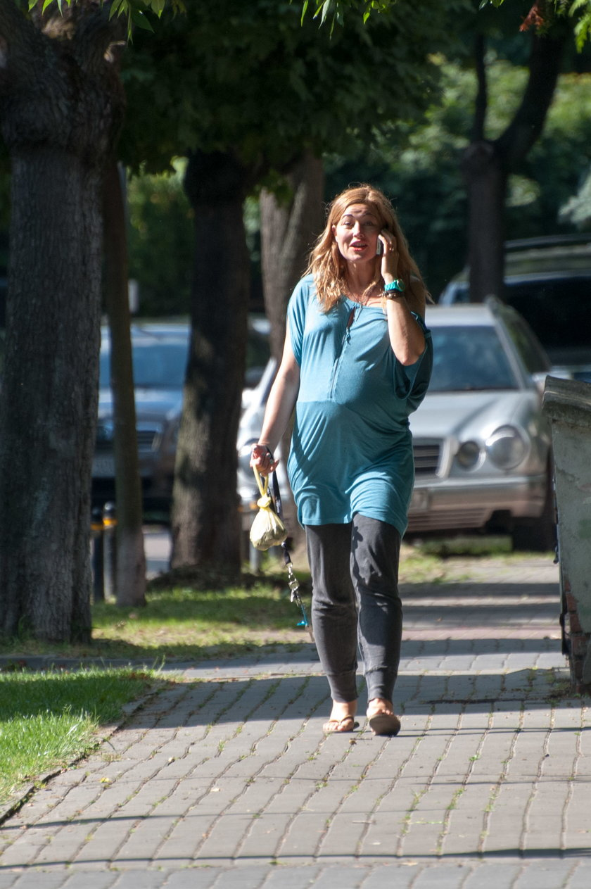 Beata Sadowska w ciąży