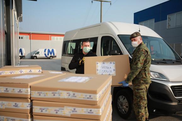 Donacija sa Vojskom za smeštaj bolesnika u Nišu u Čairu