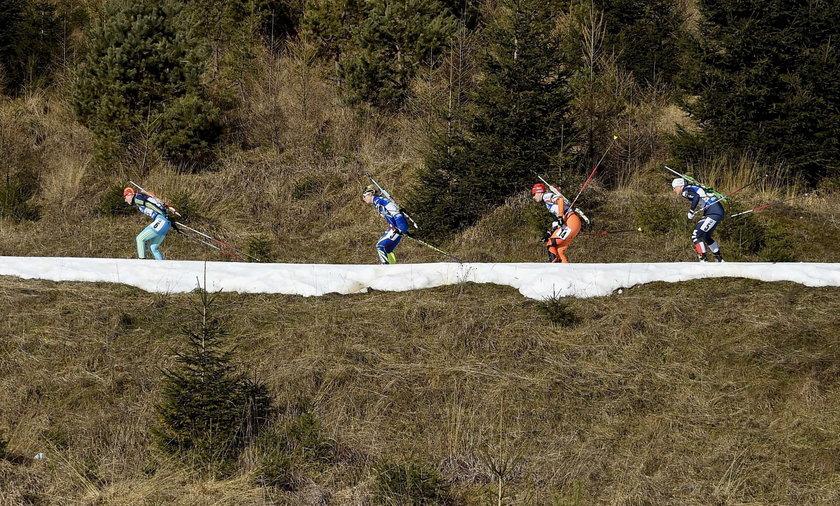 Biathlon brak śniegu