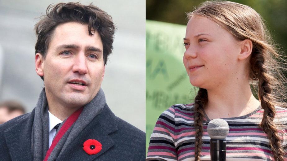 Justin Trudeau i Greta Thunberg