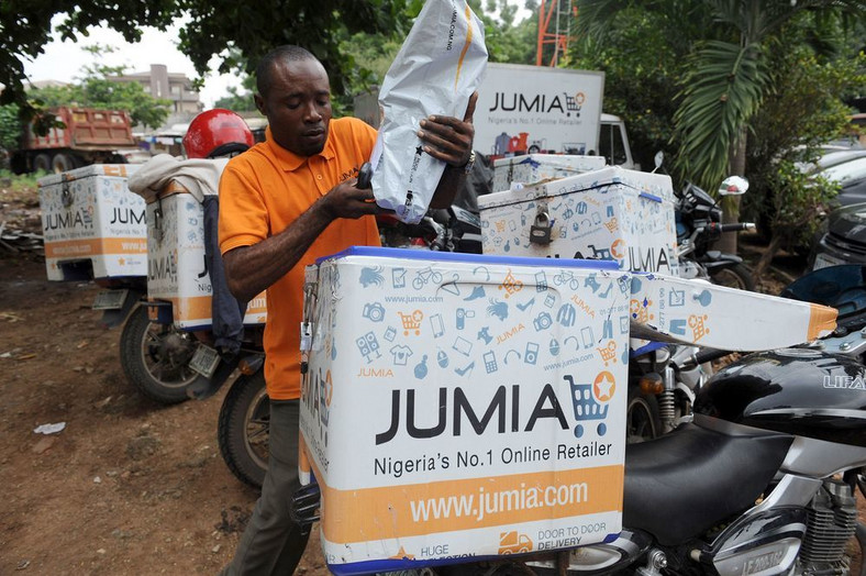 Jumia delivery scooters in Lagos . Photographer: Pius Utomi Ekpei/AFP via Getty Images