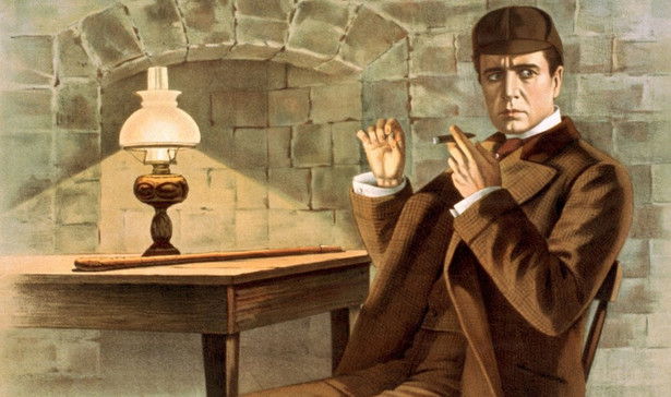 "Fragment plakatu do filmu ""Sherlock Holmes"" (1916)"