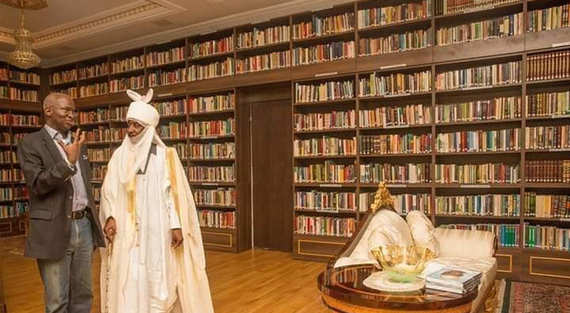 This is what Sanusi's N200m library looks like after his dethronement [PHOTOS]