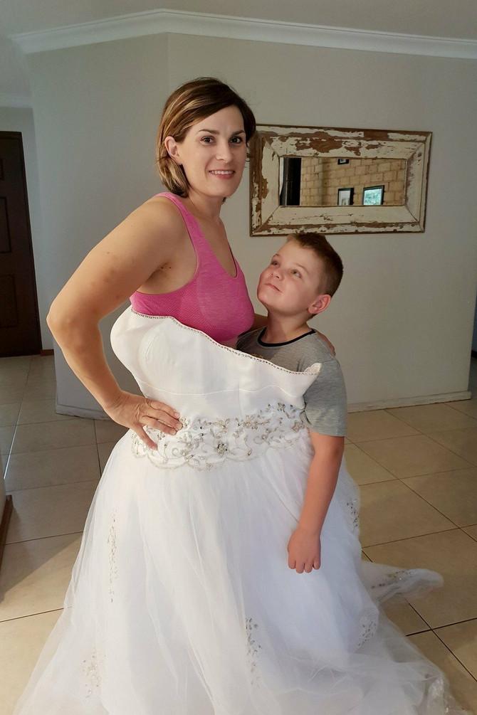 Belinda danas može da uđe u svoju venčanicu sa sinom