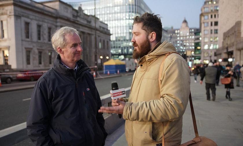 Toby Williamson, szef Łukasza, w rozmowie z reporterem Faktu