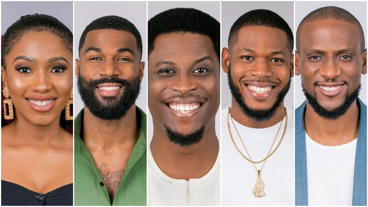 The last five housemates were Mercy, Mike,  Seyi, Frodd, and Omashola. [Multichoice]