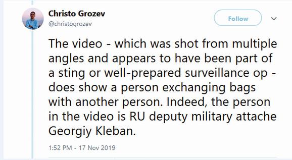 Novinar Hristo Grozev na svom Tviter nalogu potvrdio autentičnost snimka