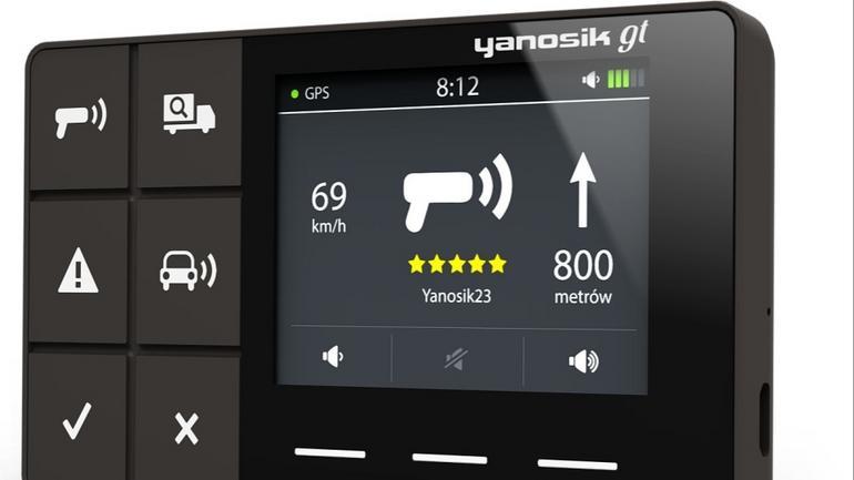 Nowy Yanosik GT: terminal pełni taką samą rolę jak aplikacja w telefonie
