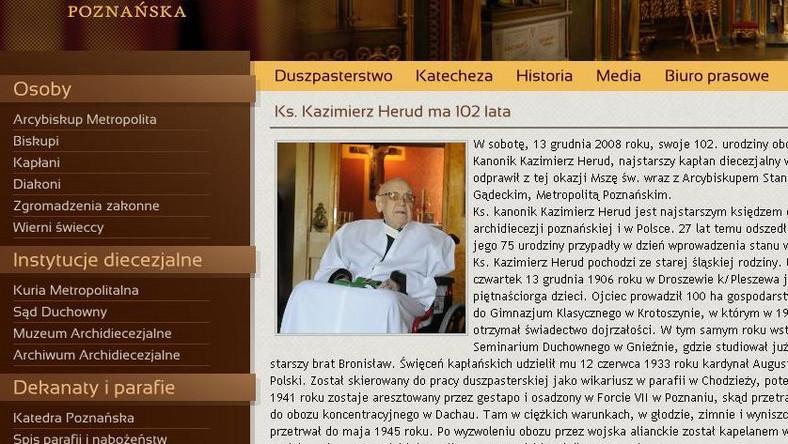Ile lat ma najstarszy polski ksiądz?