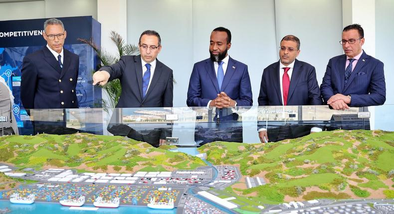 Mombasa Governor Hassan Joho during a visit to Tanger-Med Port in Morocco