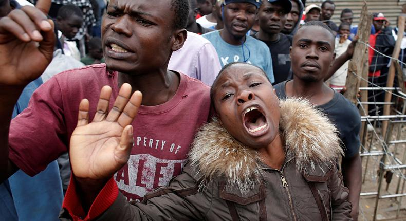 Kenyans protesting: Kenyan taxpayers are paying through the nose to fund State's back breaking torture and cruelty bill. (sputniknews)