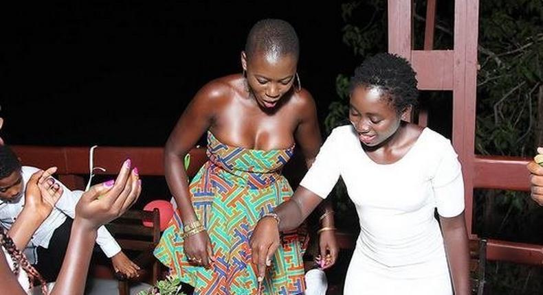 Akothee at daughter's birthday