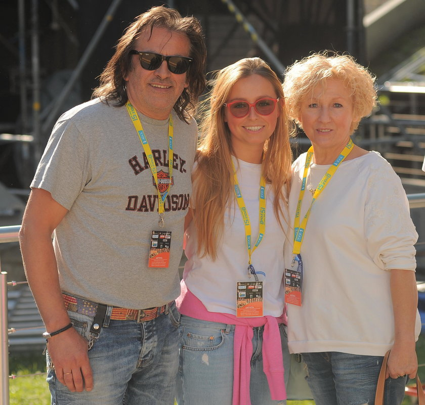 Witold Paszt z żoną i córką