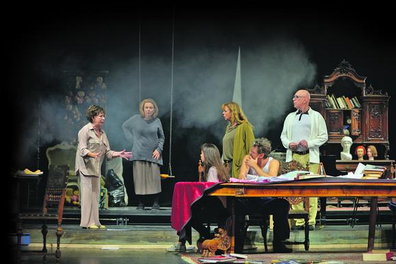 Scena iz predstave u beogradskom JDP