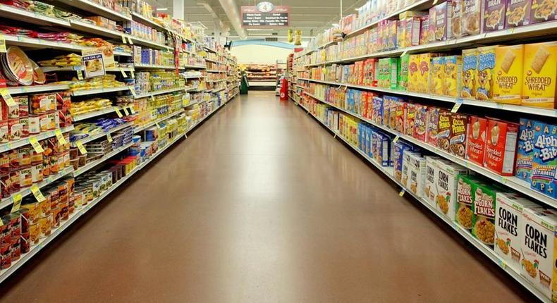 File image of the inside of a supermarket