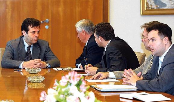 Sastanak sa Vojislavom Koštunicom nakon 5. oktobra