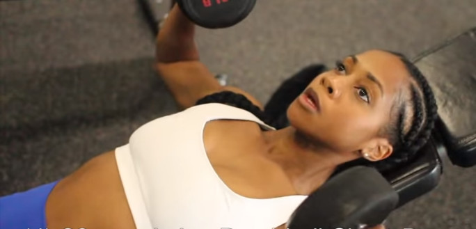 Developing the muscles underneath your breasts will enhance the look of your breasts [YouTube/ Toni Mitchell]