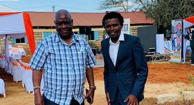 NACADA CEO Victor Okioma and NACADA Vice Chair Vincent Chipukeezy Mwasia